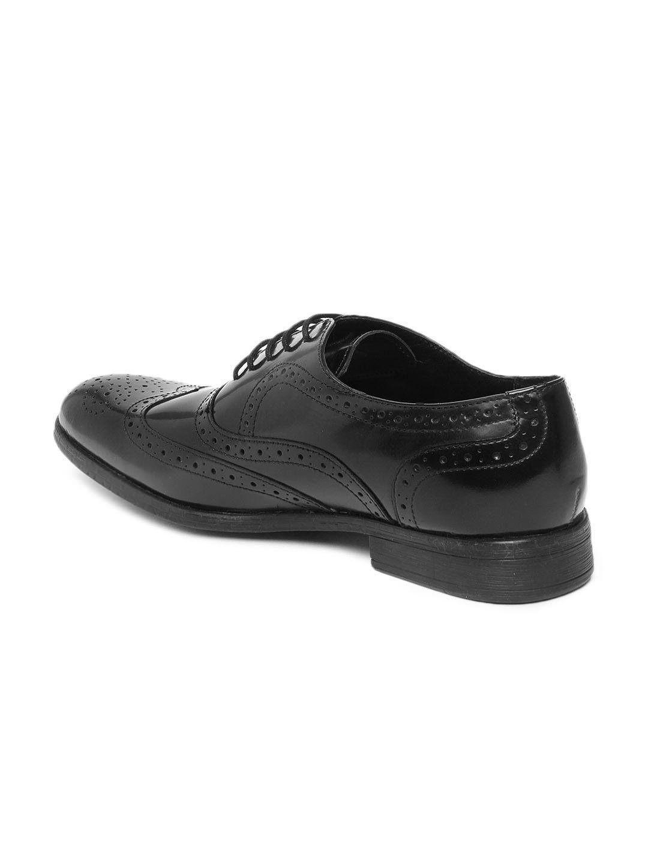 Buy Ruosh Men Black Leather Formal