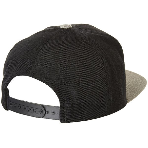 75e85ed8 BRIXTON RIFT SNAPBACK CAP BLACK HEATHER GREY ($50) ❤ liked on Polyvore  featuring accessories, hats, snapback hats, brixton hats, brixton, caps hats  and cap ...