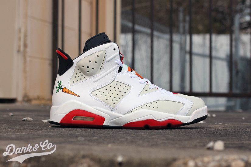 What Are Your Thoughts On This Air Jordan 6 Hare By Dank Customs ... 8b1e48d31