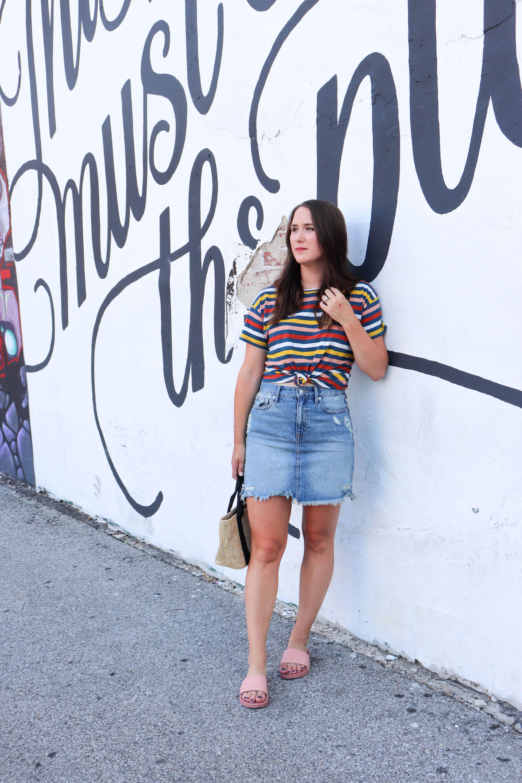 3b15395d910dec How The Denim Skirt Still Works | Pinterest | Denim skirt, Fashion ...