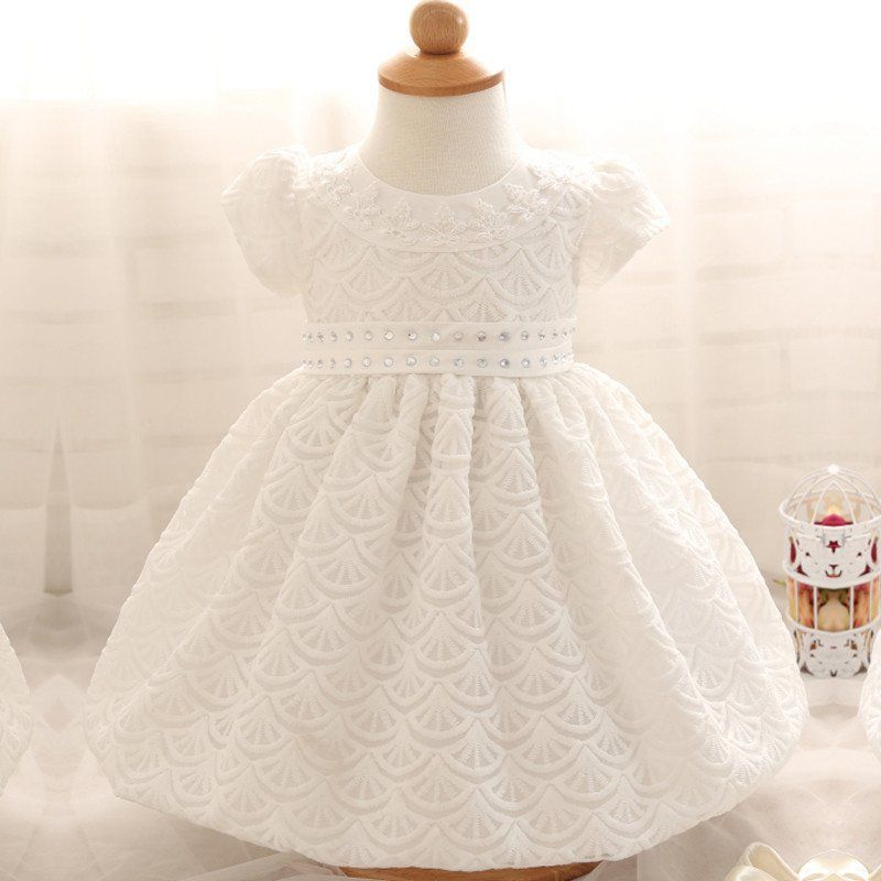 Cute Newborn Dress White For Infant Baby Christening Gown Toddler ...