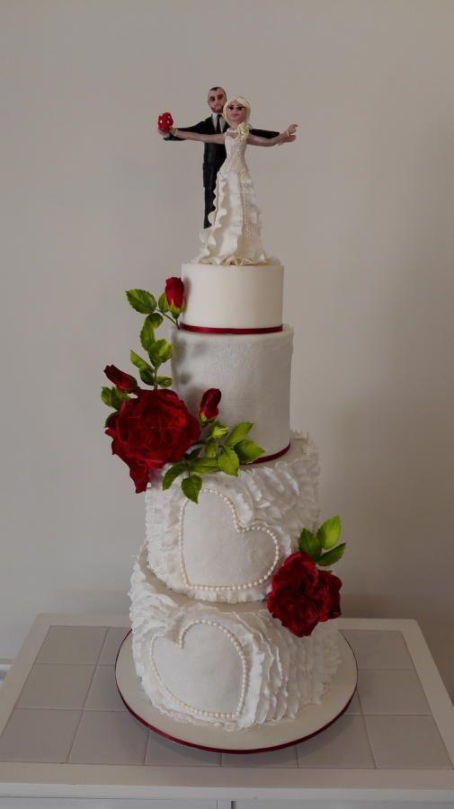 A wedding cake  by Bistra Dean  - http://cakesdecor.com/cakes/218634-a-wedding-cake