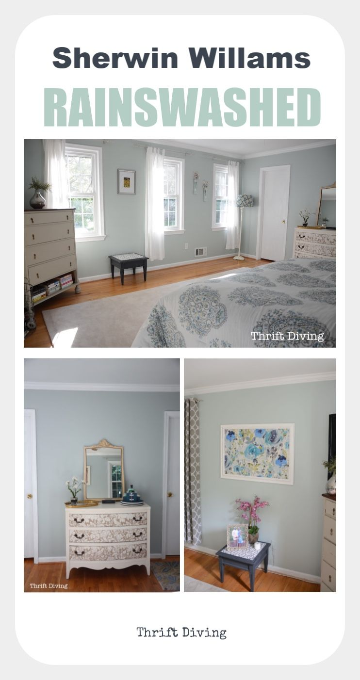 Sherwin Williams Sea Salt and Rainwashed: The Most Pretty Colors! images
