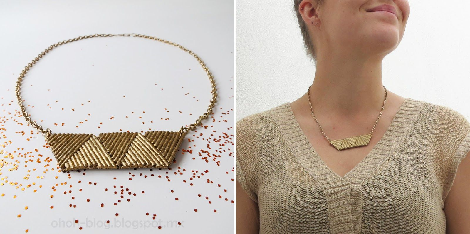 Ohoh Blog - diy and crafts: Pasta necklace / Collar