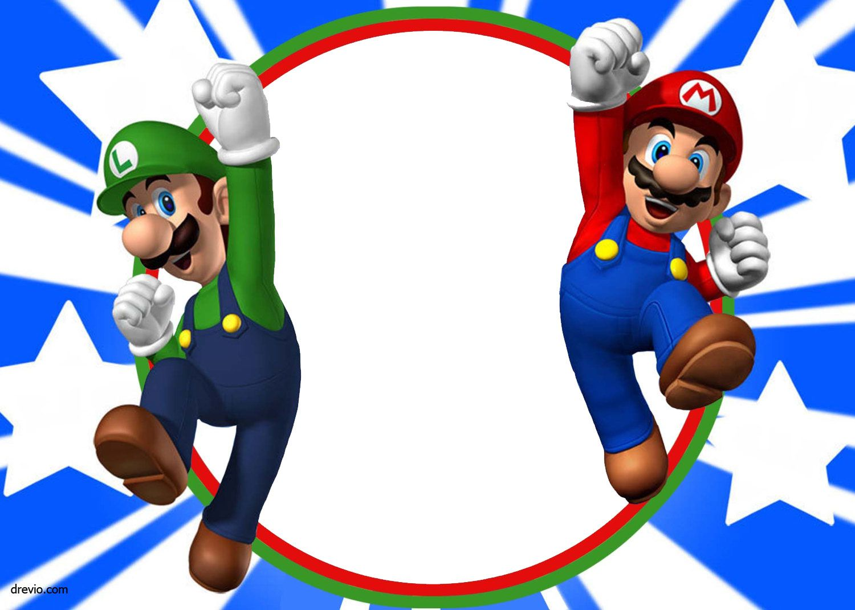 Free Printable Super Mario Bros Invitation Template Mario Birthday