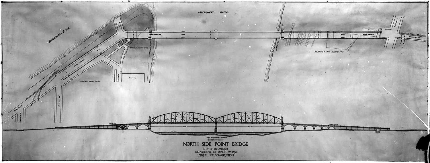 Diagram Of The Plan And Elevation Of The North Side Point Bridge - Find elevation by address