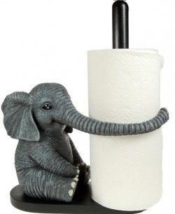 Beau Elephant Kitchen Accessories | Elephant Kitchen Roll Holder NEW