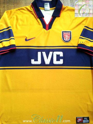 1997/98 Arsenal Away Shirt Double Winners #98 (XL) | Classic ...