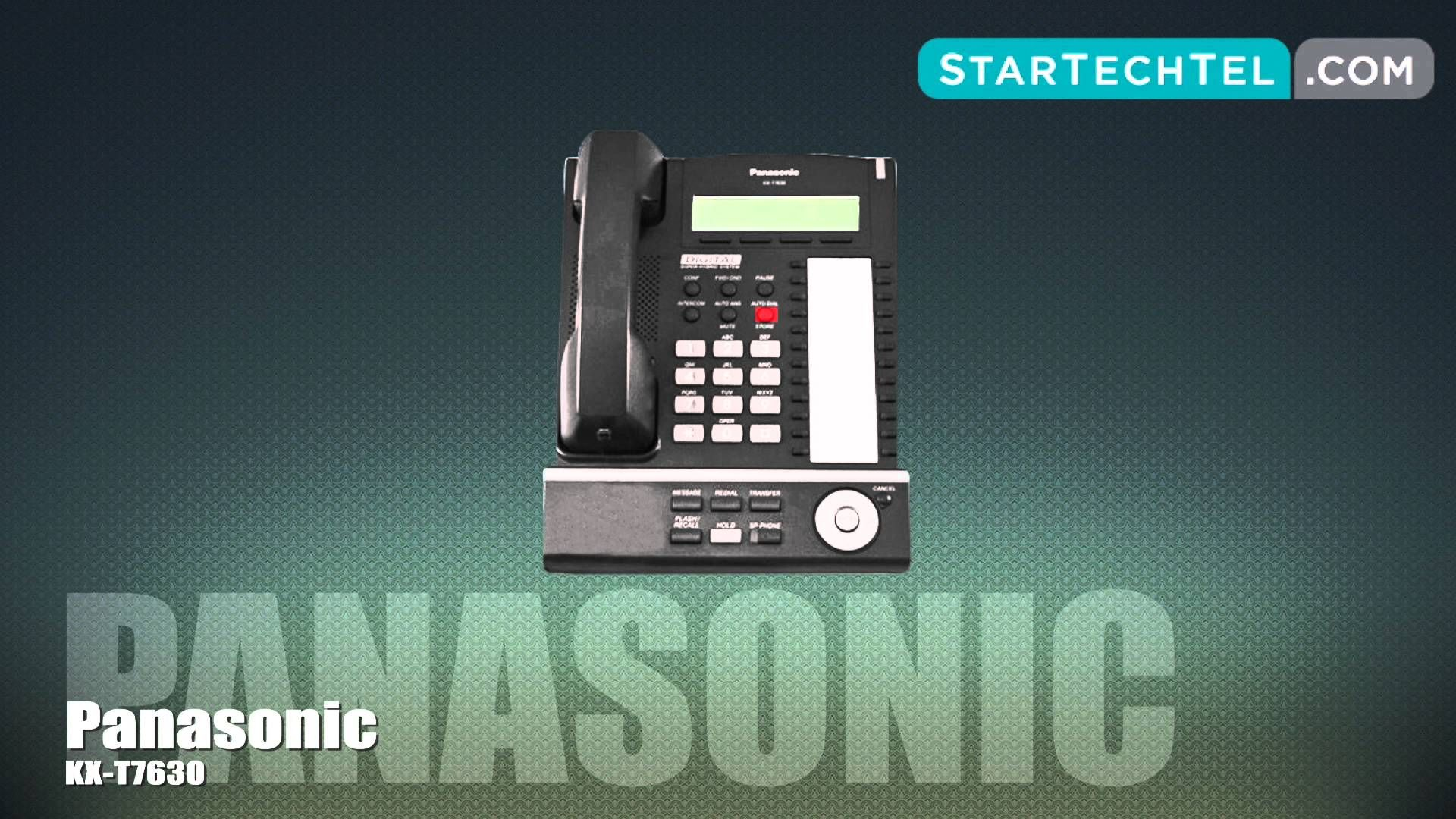 How To Set & Adjust The Ringtone On The Panasonic KX-T7630