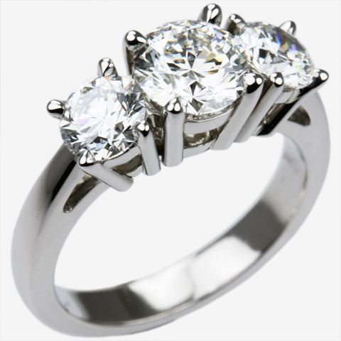 2 carat 3 diamond platinum ring Chris Lewis Jewellers Master