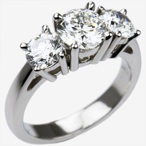 2 carat 3 diamond platinum ring Chris Lewis Jewellers Master
