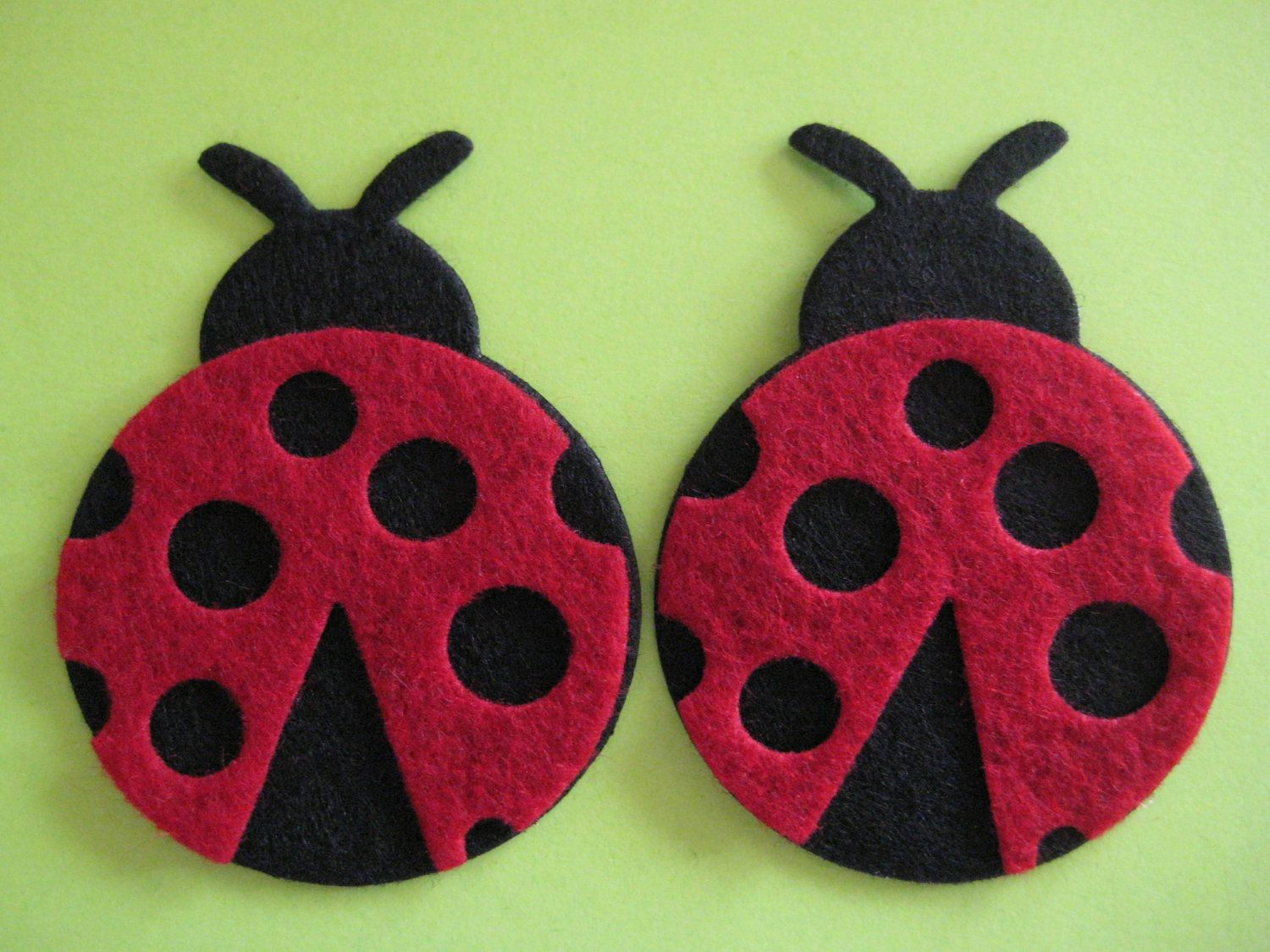 Ladybug ornaments - Lady Bug Felt Ornaments Baby Shower Party Favors Crafting Embellishment Scrapbooking 1 5 X 2 37 50 Mm 50 Mm 6 Pieces