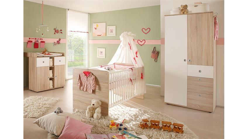 Babyzimmer WIKI 3teilig Sonoma Eiche Sägerau Babyzimmer