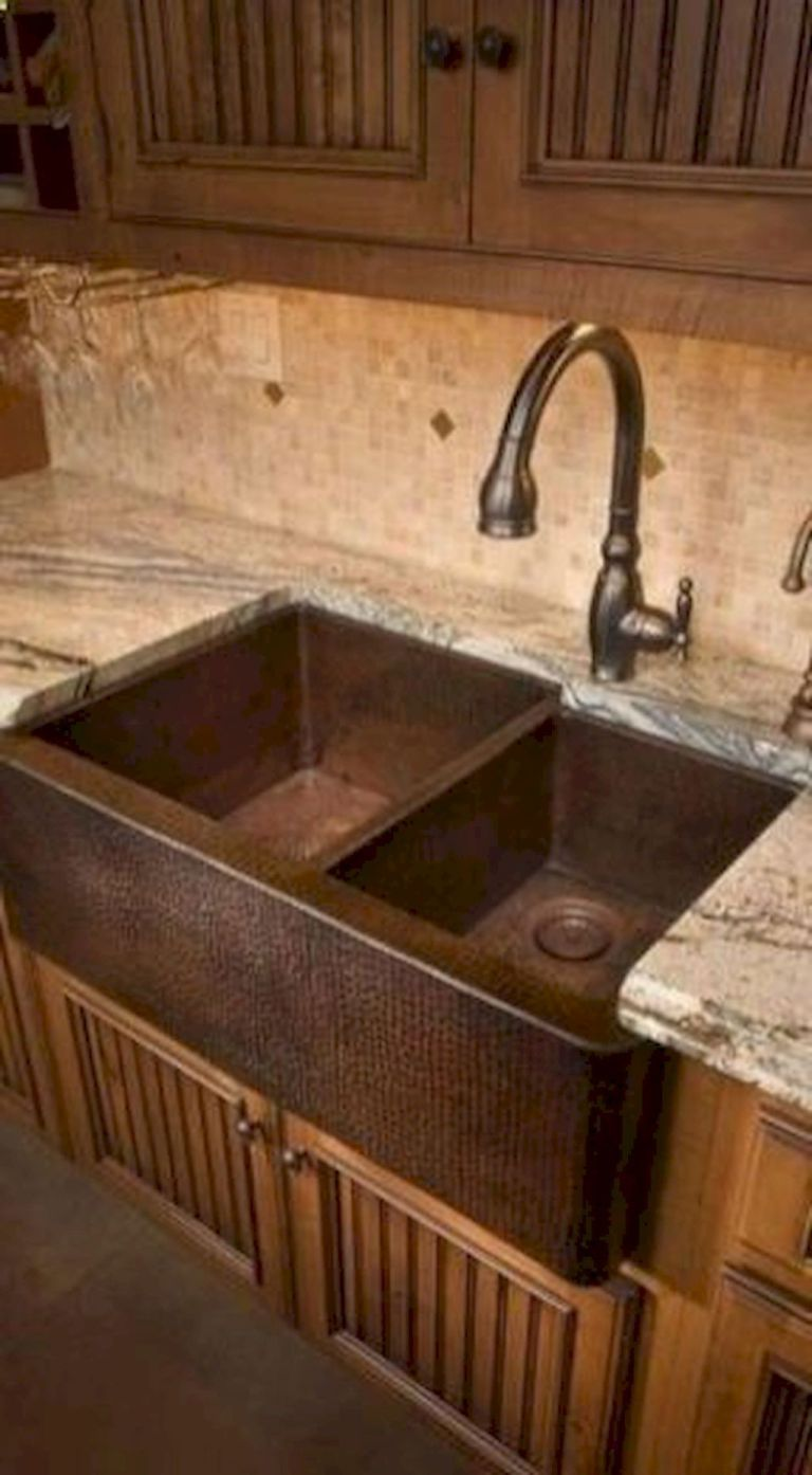 Rustic kitchen sink farmhouse style ideas (39 (With images