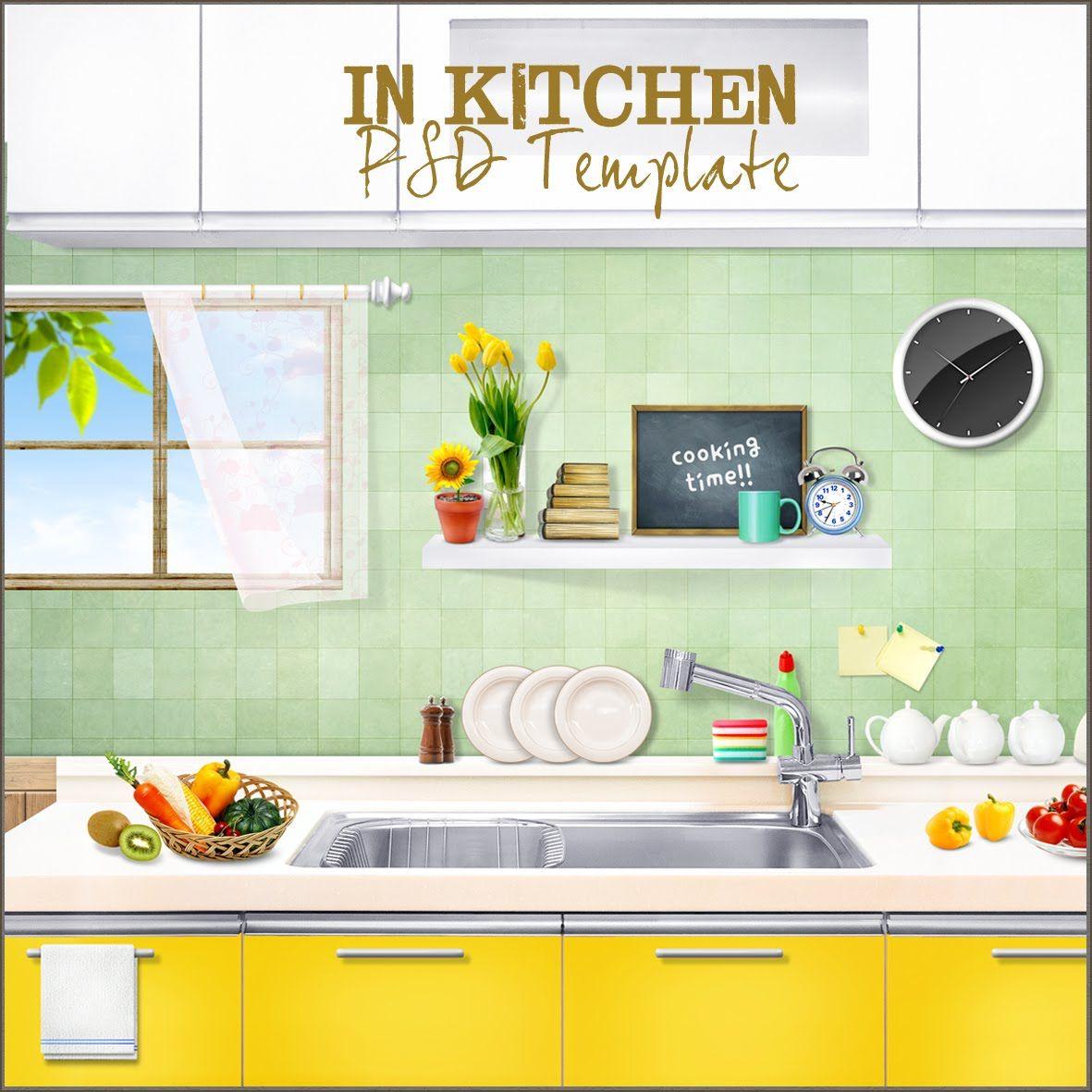 Kitchen Cabinet Design Freeware: Friendly Scrap: Freebies PSD Templates