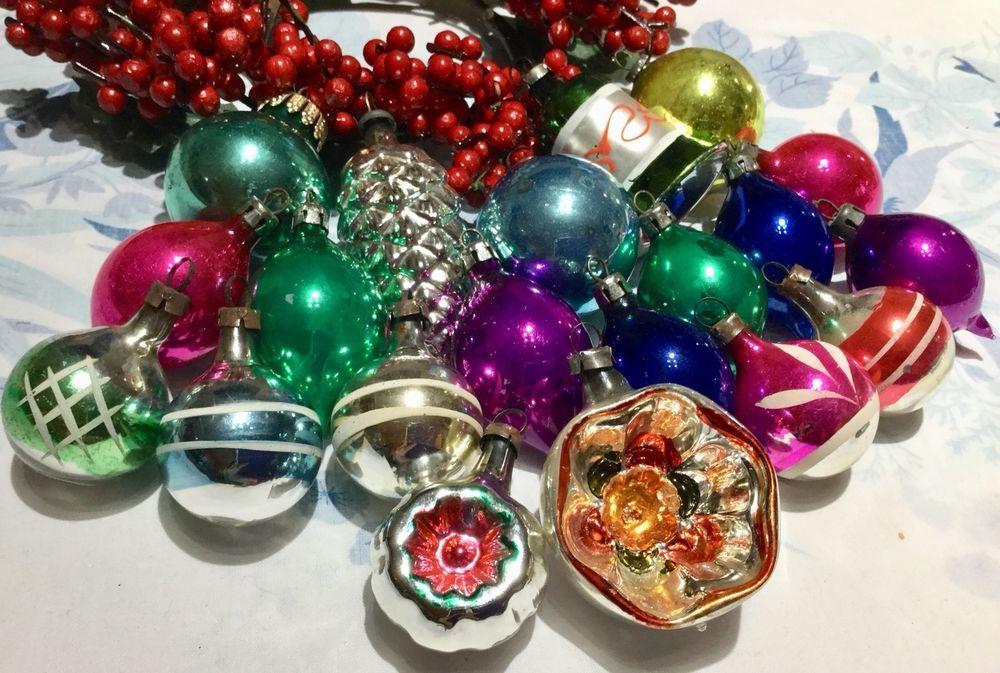 Ebay Christmas Baubles.Vintage Lot 20 Mercury Glass Christmas Baubles 2 Concave
