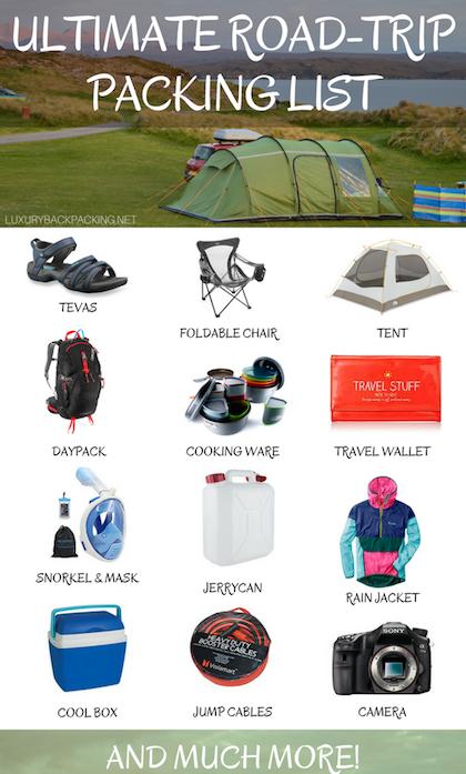 Ultimate Road Trip Packing List Luxurybackpacking Blog