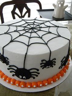 spider cake for trey trey is having his birthday his mother thought a halloween ish cake would be super fun