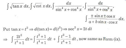 Cbse Notes Class 12 Maths Indefinite Integrals Class 12 Maths