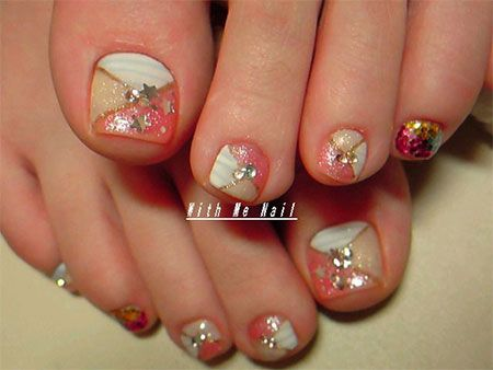 Easy Cute Toe Nail Art Designs Ideas 2013 2014 For Beginners
