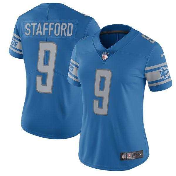 womens detroit lions matthew stafford nike blue 2017 vapor untouchable limited player jersey