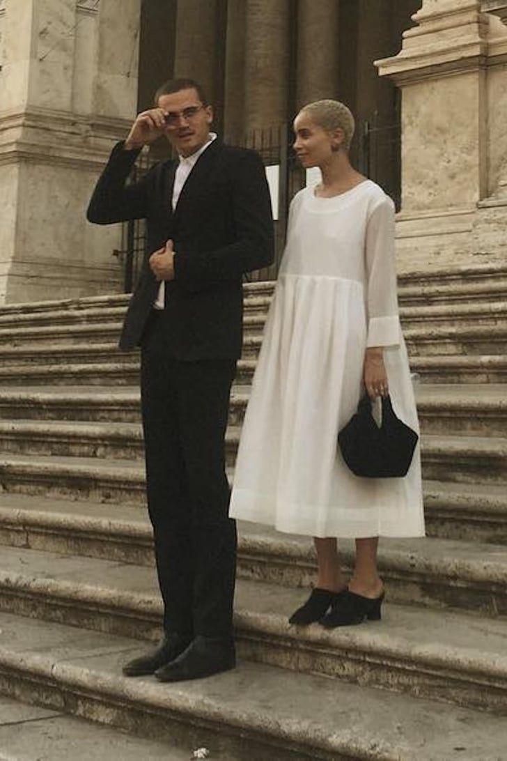Zoë Kravitz's Stunning Wedding Dress Will Instantly Remind You of Audrey Hepburn