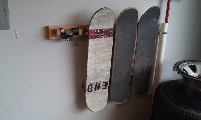 Diy skateboard hanger skateboard hanger skateboard