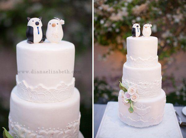 Lovely cake for a vintage wedding {Photo by: Diana Elizabeth Photography, Event Design by: Angela Saban Design}