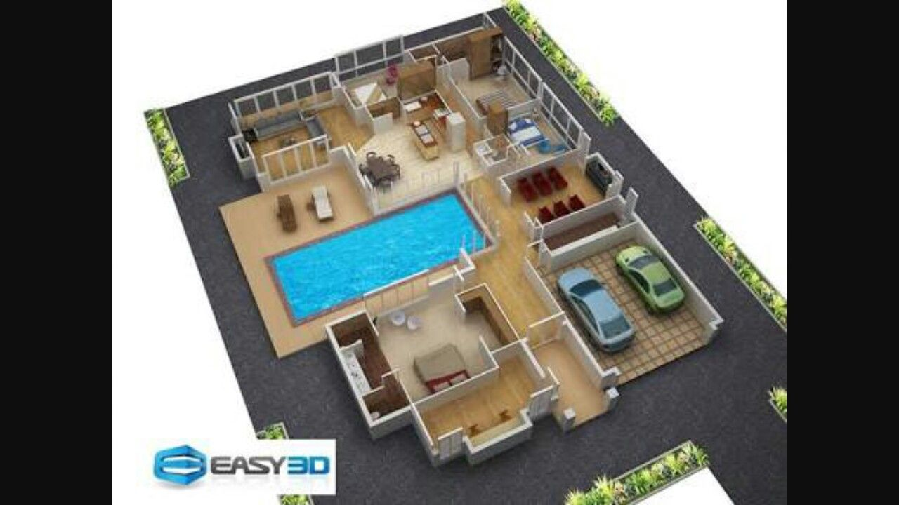 Pin by Saumyaa Shukla on architecture | 3d house plans, 2