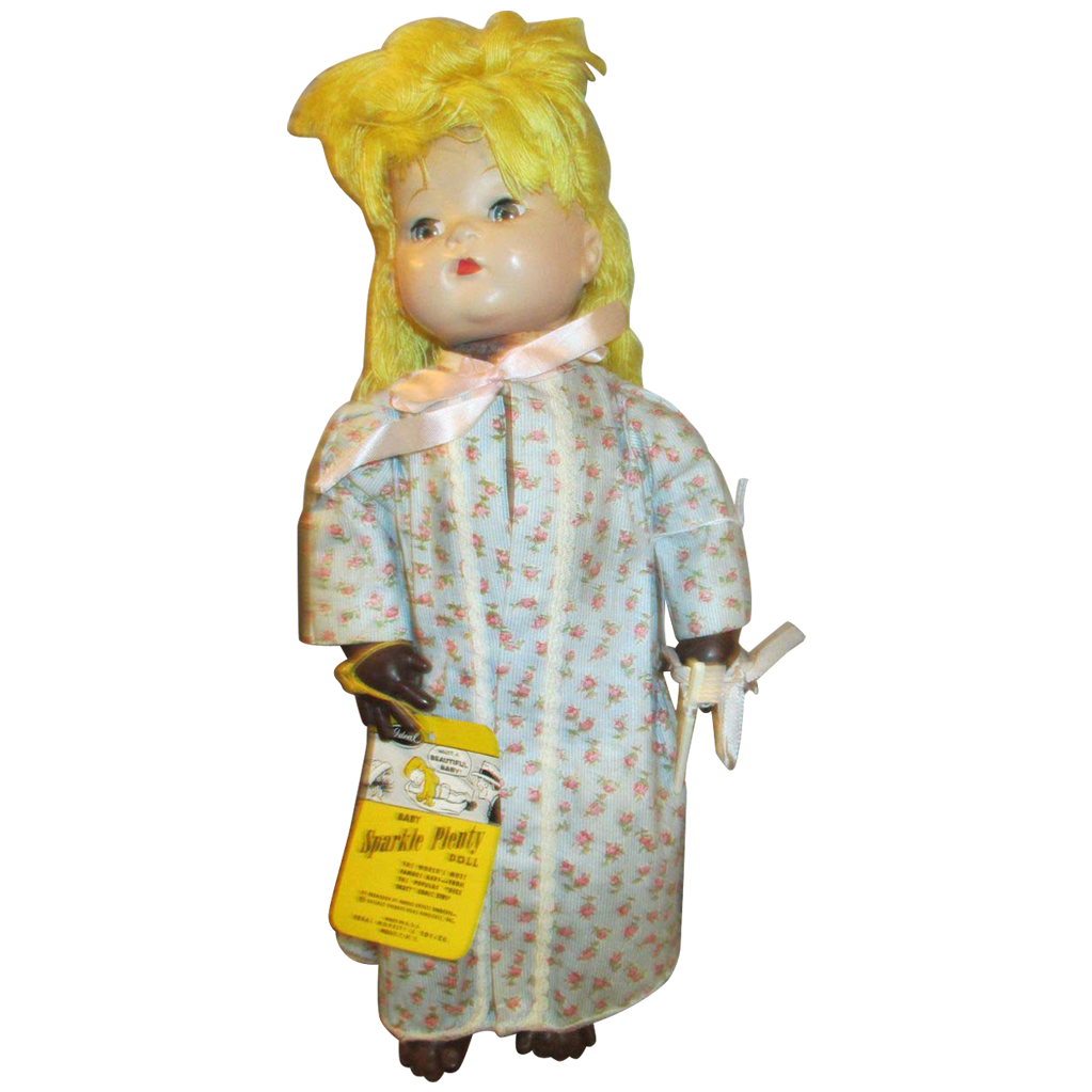 1947 Sparkle Plenty Doll In Original Outfit With Hang Tag Sparkle Plenty Dolls Beautiful Toys