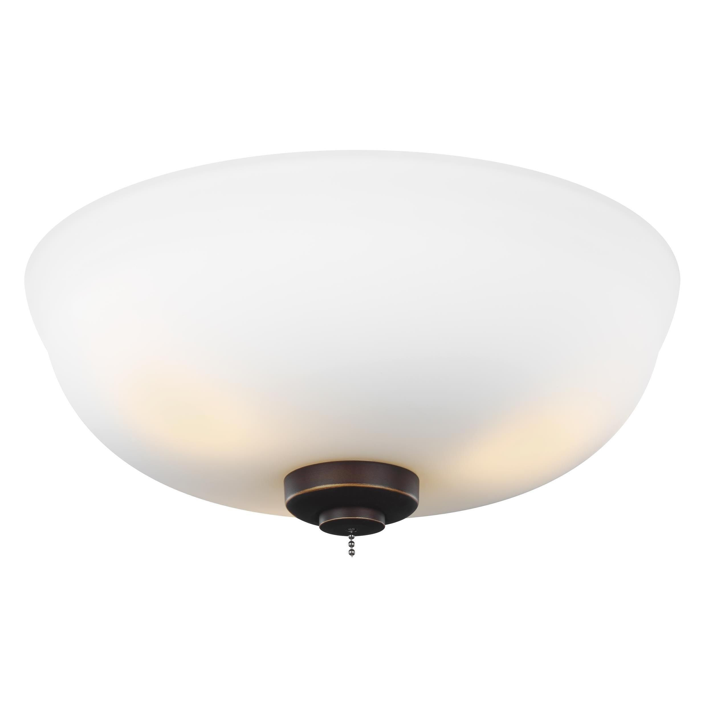 Monte Carlo 3 light Roman Bronze Ceiling Fan Light Kit 3 Light