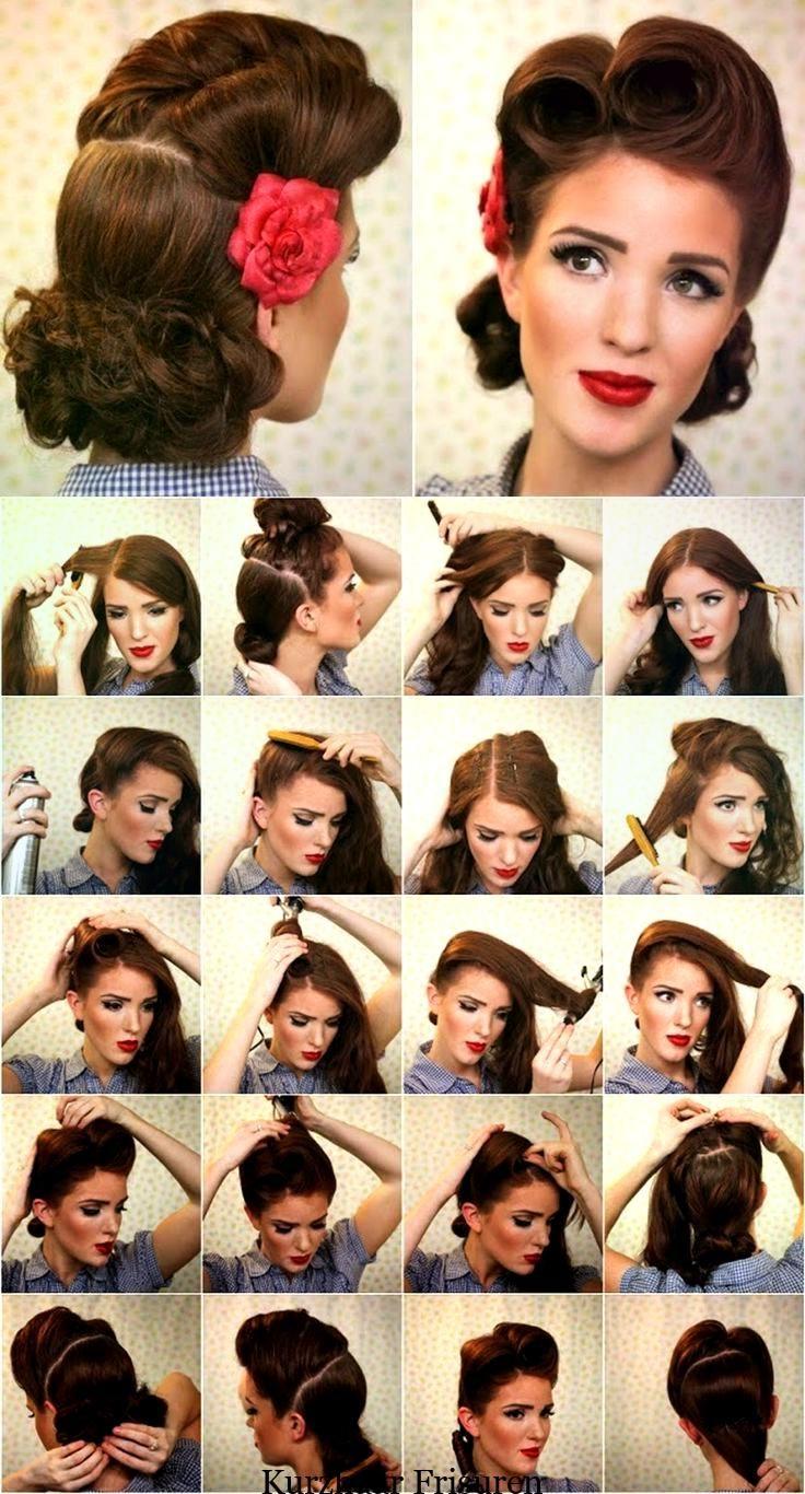 Fototutorials für Frisuren im typischen Rockabilly-Stil