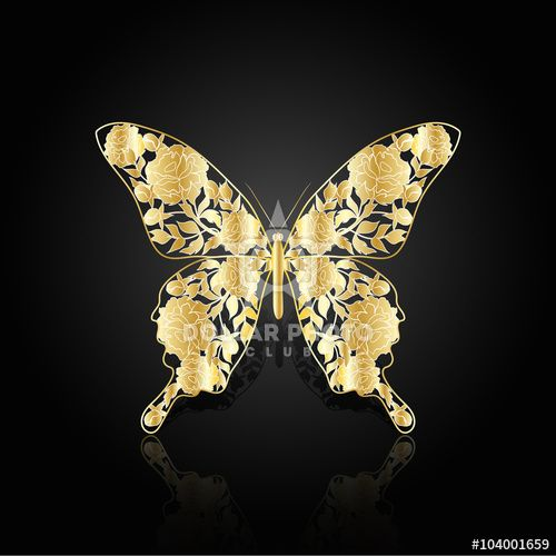 https://www.dollarphotoclub.com/stock-photo/Gold abstract butterfly on black background/104001659 Dollar Photo Club millions of stock images for $1 each