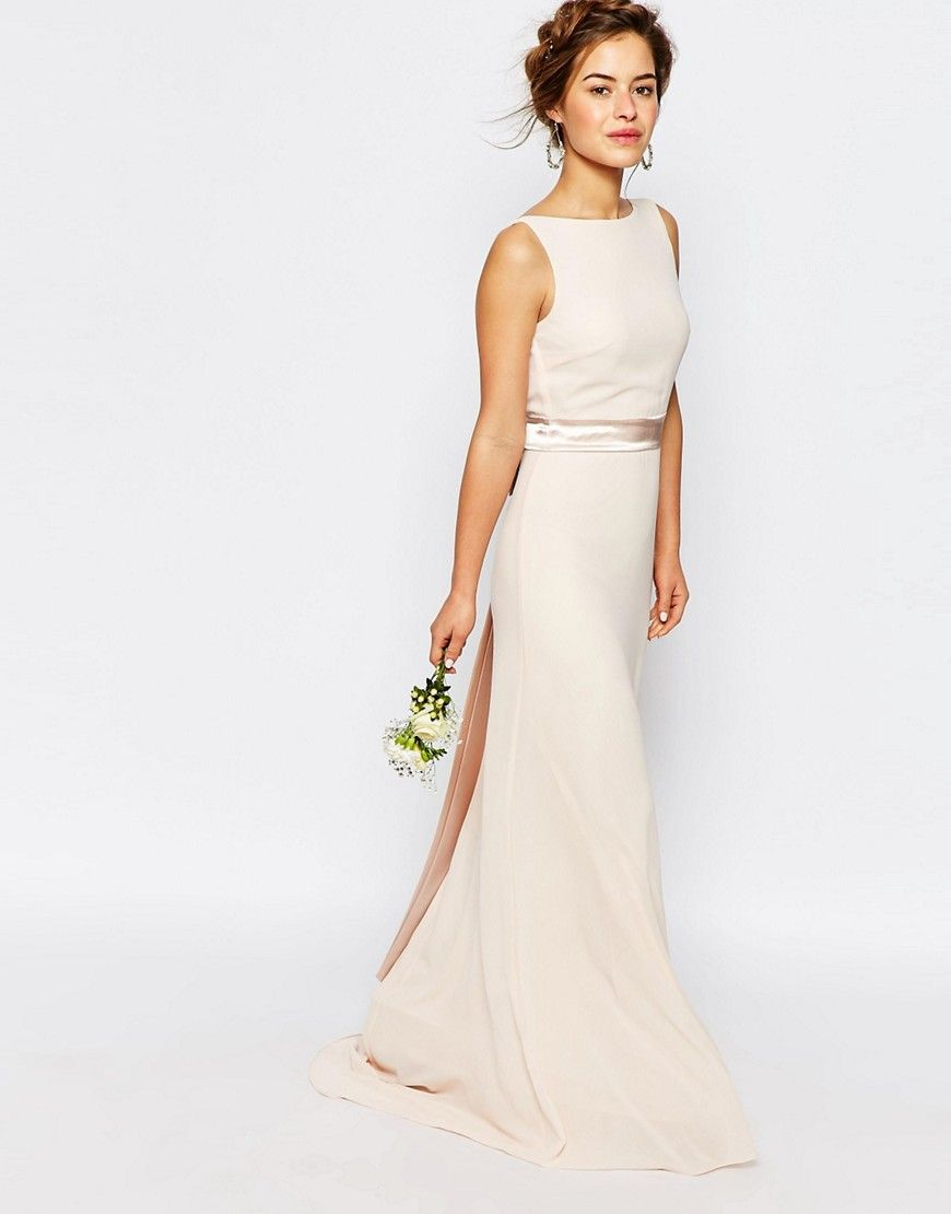 Image 4 of TFNC Petite WEDDING Sateen Bow Back Maxi Dress | judy ...