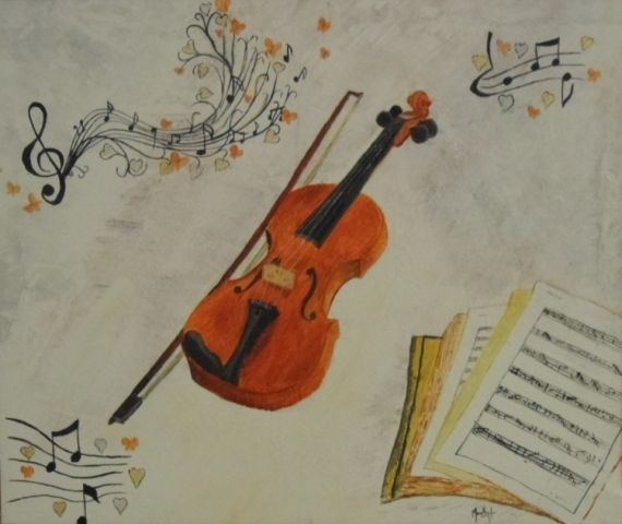tableau peinture musique violon peinture a l 39 huile notes de musique tableau musique violon. Black Bedroom Furniture Sets. Home Design Ideas