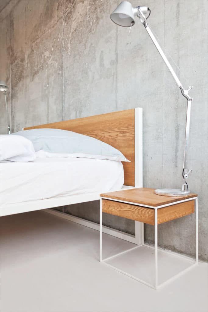 Loft Vintage Bett Designer bett, Massivholzbett und