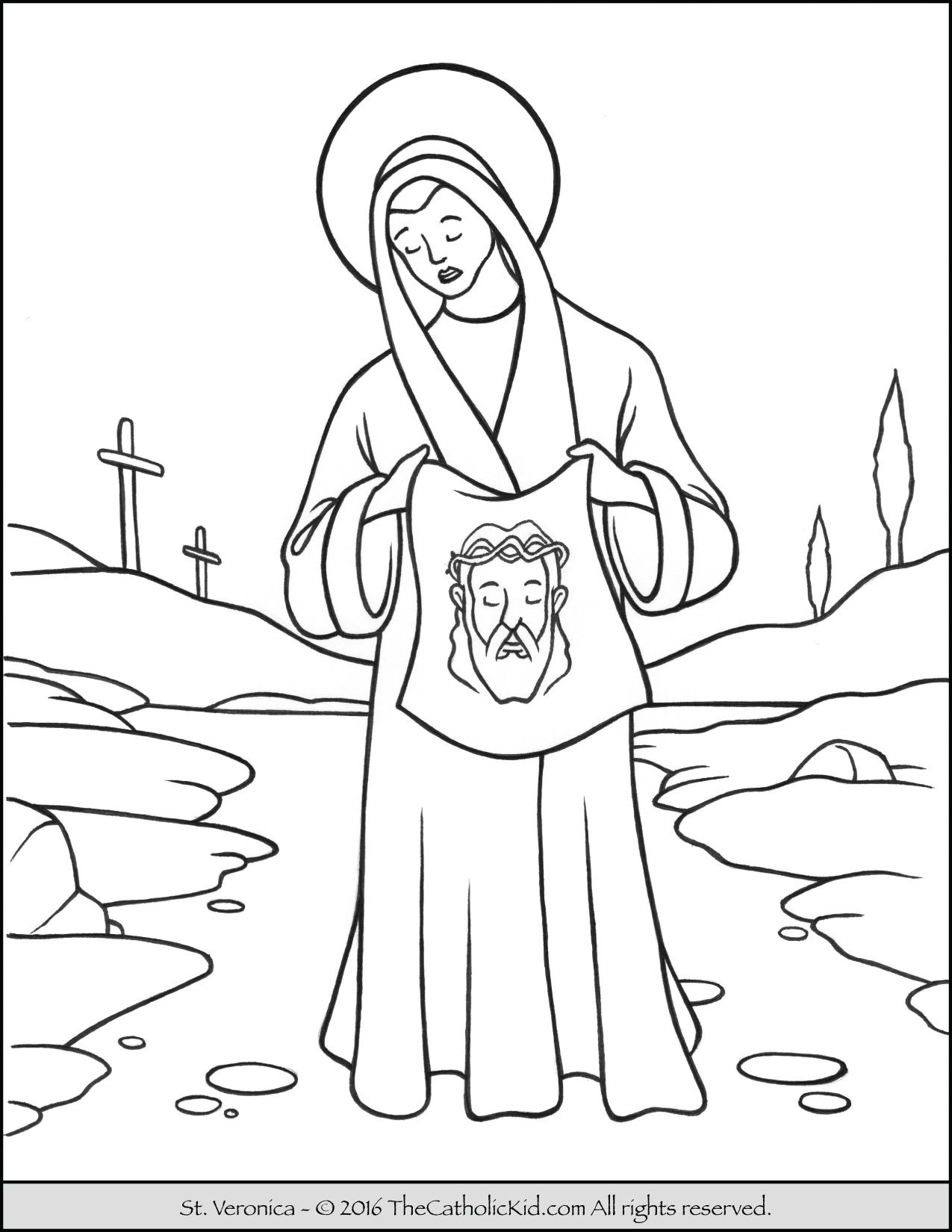 Saint Veronica Coloring Page The Catholic Kid St Veronica
