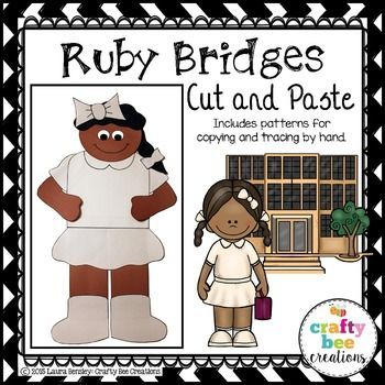 Ruby Bridges Cut and Paste Construction paper and Kindergarten - copy free coloring pages for ruby bridges