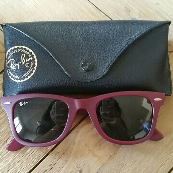 Ray Ban sunglasses Classic Ray Ban glasses in magenta color Ray Ban  Accessories Glasses