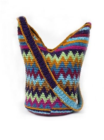Stela 9 Crochet Beach Bag in Multi
