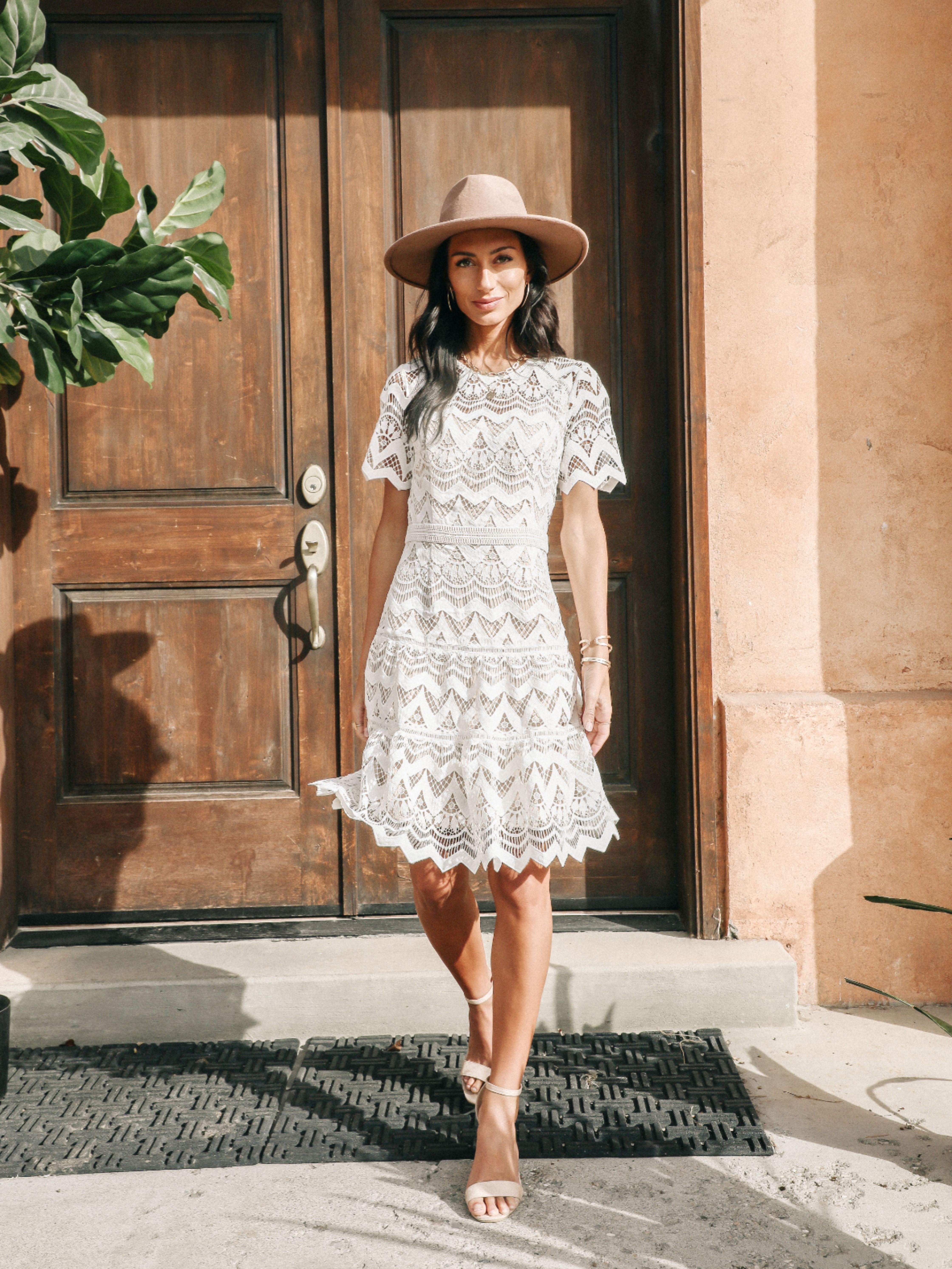 Bohme Catherine Lace Dress White Dress Spring Dresses Graduation Dress College [ 5973 x 4480 Pixel ]