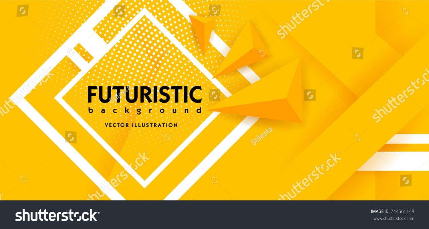 Abstract Background Modern Hipster Futuristic Graphic Yellow