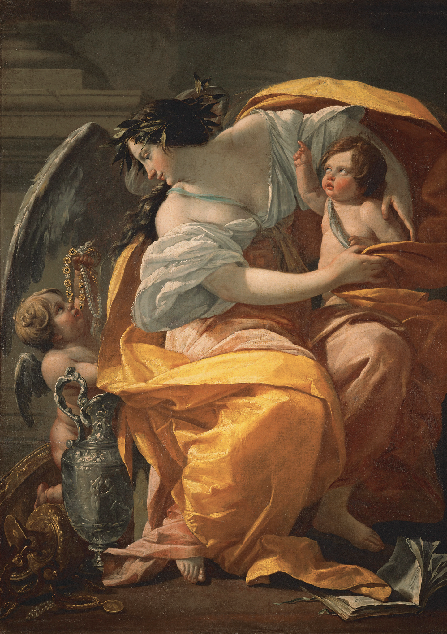 Simon Vouet - Allegory Of Wealth Ca. 1640 Louvre