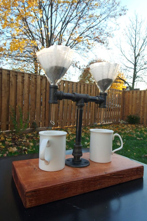 Double Industrial Pour Over Coffee Server by kimberlyjyDesigns #coffeeserver