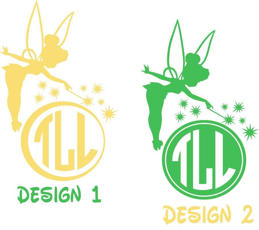Personalized Tinkerbell Monogram Decal. YETI decal. Yeti ...