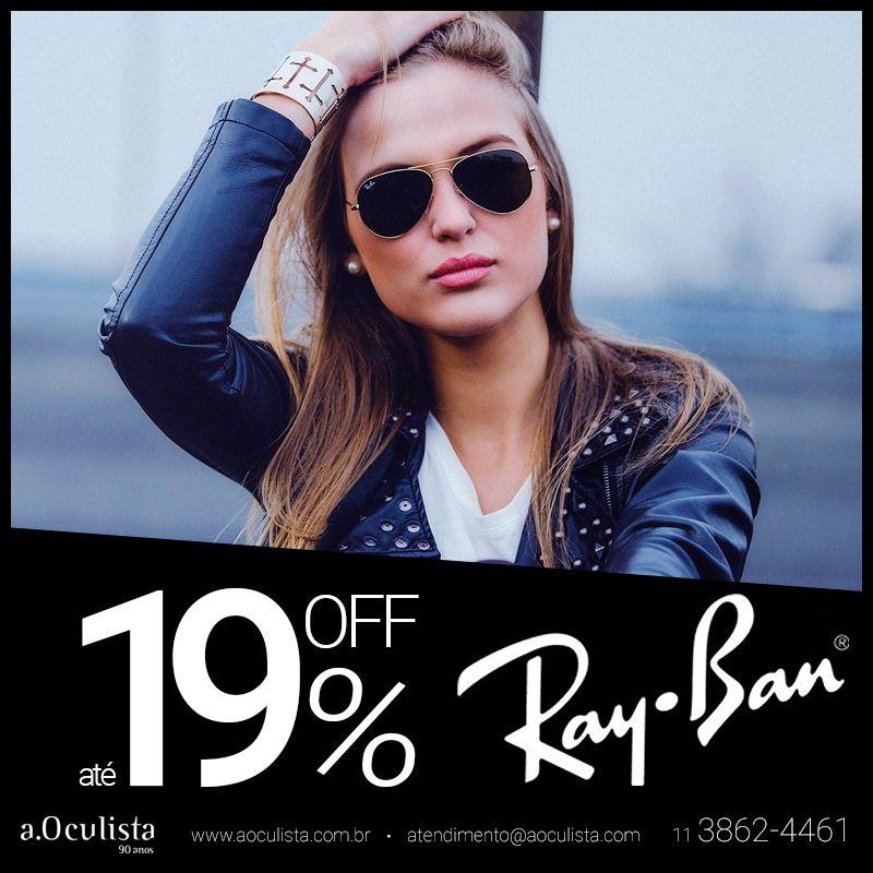 Ray Ban com ate 19% de desconto, aproveite!  Clique https://goo.gl/faLtUR e compre pelo site em até 10x sem juros e frete grátis  #aoculista #rayban #glasses #sunglasses #eyeglasses #oculos