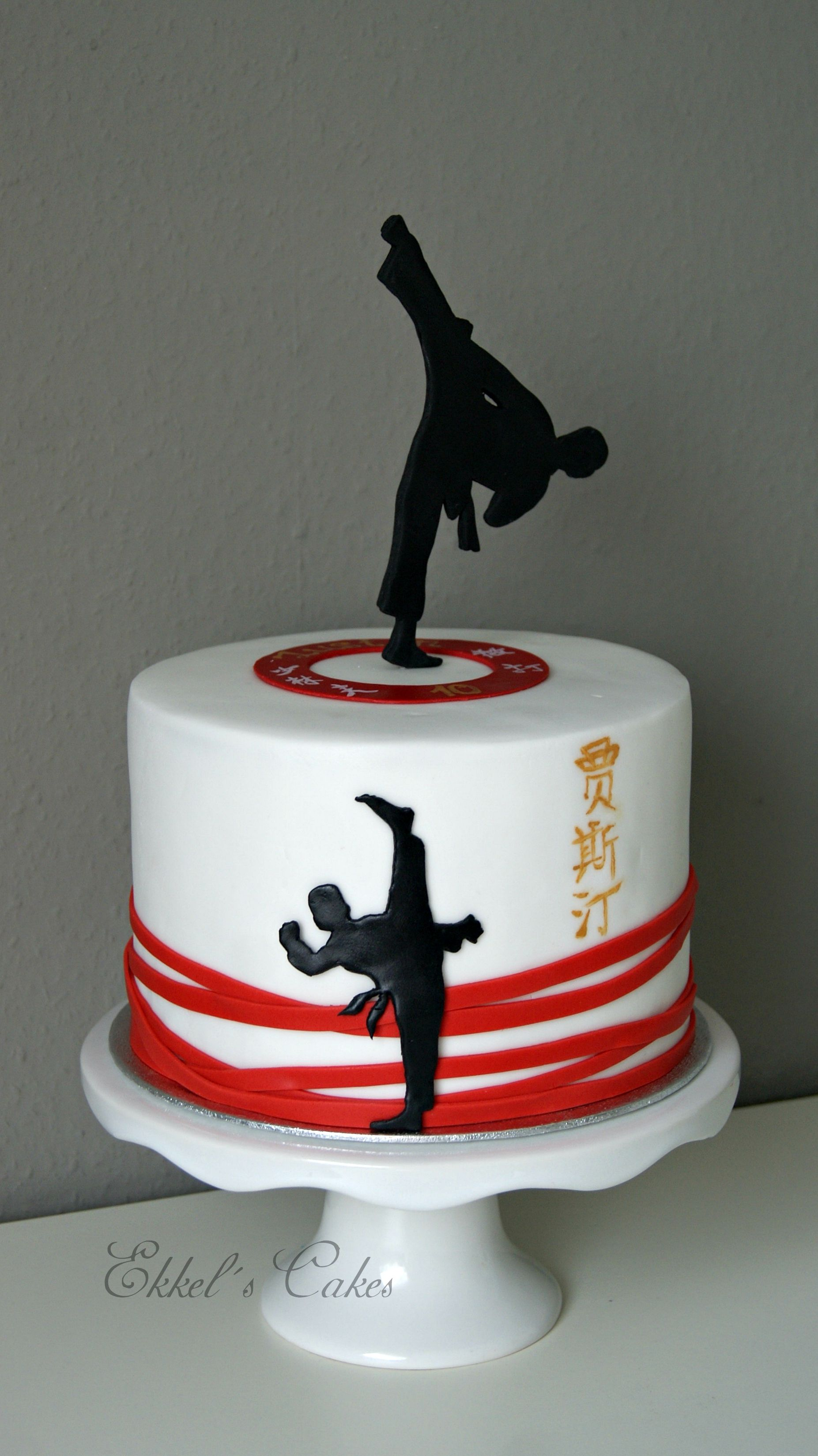 Incredible Kung Fu Taekwondo Sport Cake Karate Cake Ninja Birthday Cake Birthday Cards Printable Trancafe Filternl