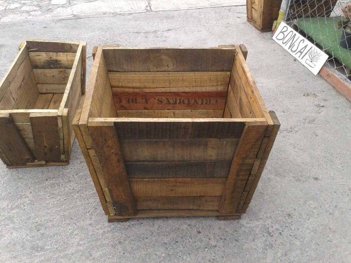 Macetas de madera contenedores enredaderas jardin hm4 - Maceteros madera exterior ...