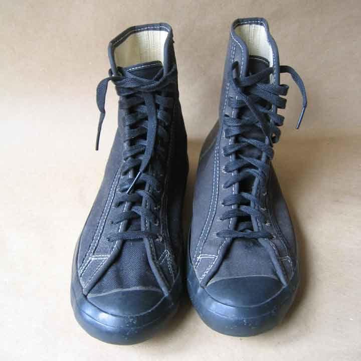 3531bd423df420 Vintage Chuck Taylor Black Canvas Wrestling Shoes