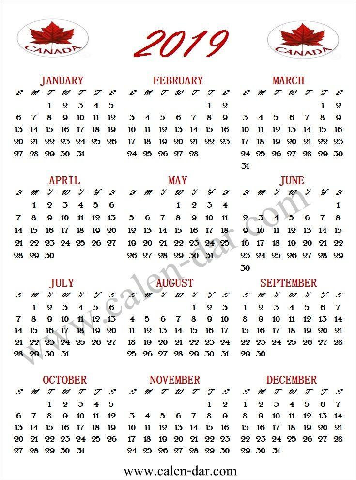 december 2019 calendar canada - Hizir kaptanband co